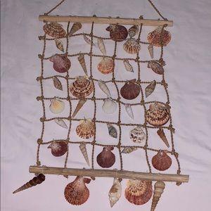 Seashell wall hanger 40 shells